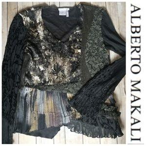 ALBERTO MAKALI patchwork top